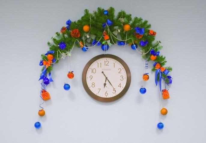 Новогодние украшения для офиса своими руками фото