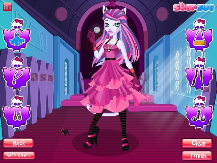 бесплатные игры монстр хай одевалки и прически