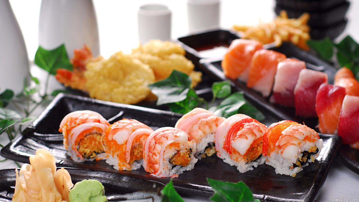 Фото суши роллы и пиво - 0
