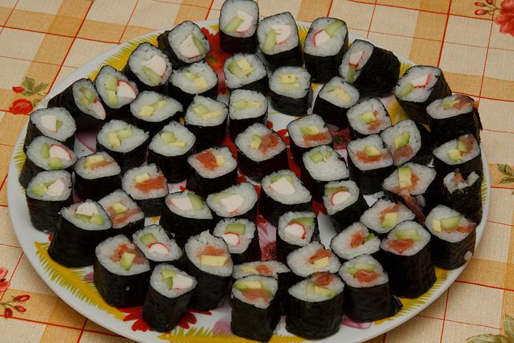 Разные суши в домашних условиях