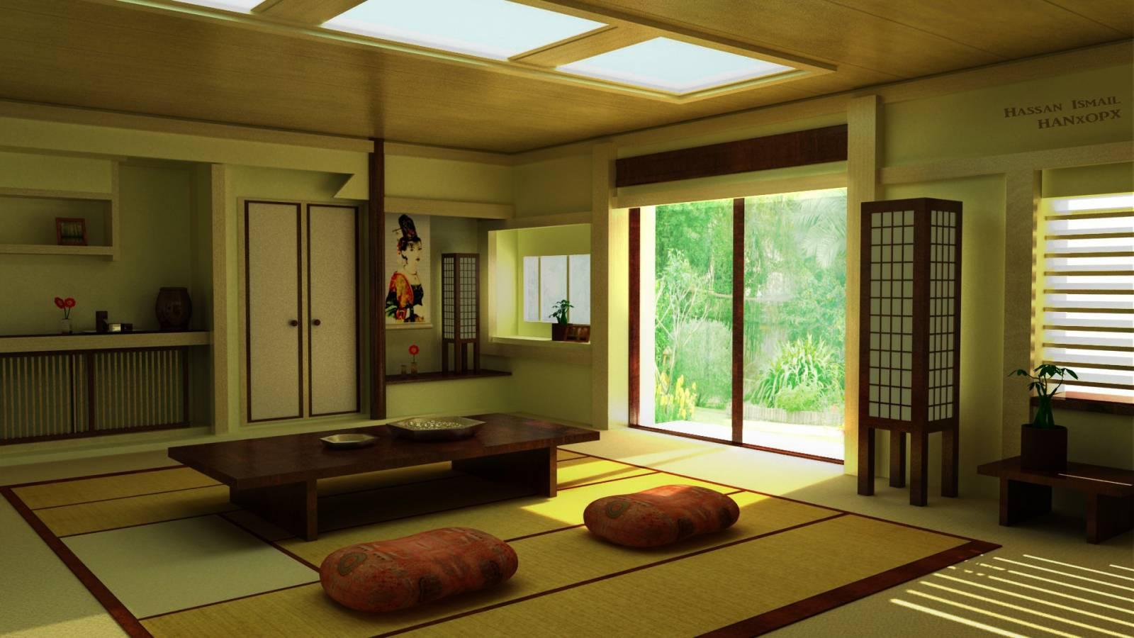 Интерьер японский фото