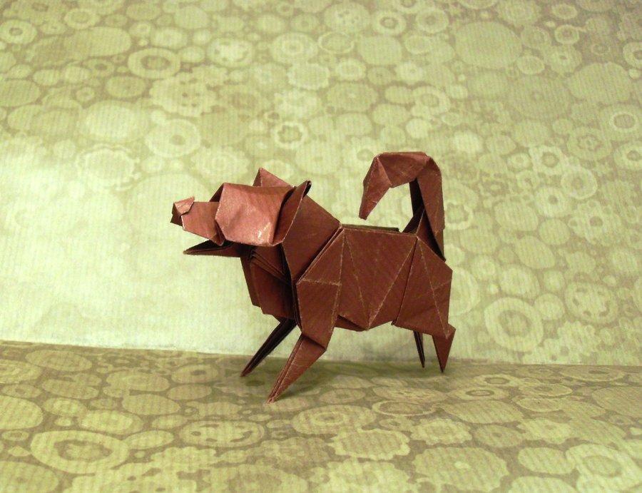 лучшие сложные.  Около 15 минут времени.  Видео схем оригами собаку.