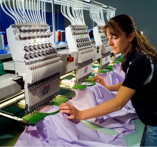 Производство машинной вышивки
