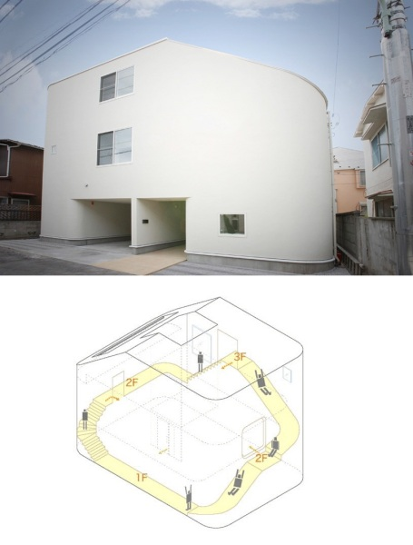 House with slide