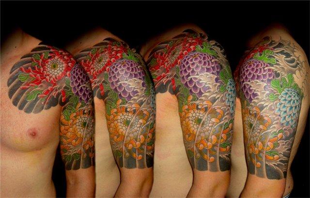 Татуировка Цветок пиона