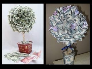 Деревья из денег своими руками фото