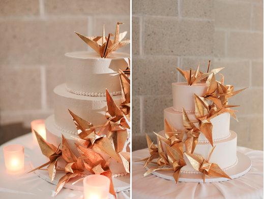 Бумажные журавлики на свадьбах